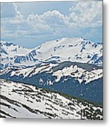 Snowy Terrain Near Top Of Trail Ridge Road In Rocky Mountain Np-co   Metal Print