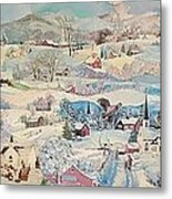 Snowy Village - Sold Metal Print