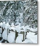 Snowy Wagner's Bridge Metal Print