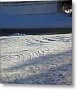 Snowy Waves In January Metal Print