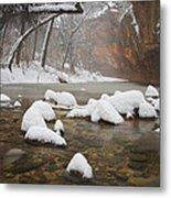 Snowy West Fork Metal Print