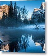 Snowy Yosemite Metal Print