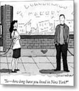 So - How Long Have You Lived In New York? Metal Print