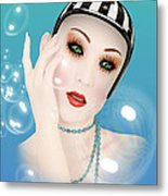 Soap Bubble Woman  Metal Print