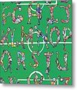 Soccer Alphabet Metal Print