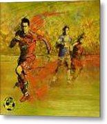 Soccer  Metal Print by Corporate Art Task Force