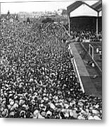 Soccer Crowd At Highbury Metal Print