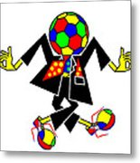 Soccer Players might prefer to skip dancing  Metal Print
