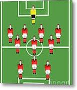 Soccer Team Football Players Metal Print