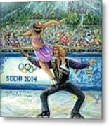 Sochi 2014 - Ice Dancing Metal Print