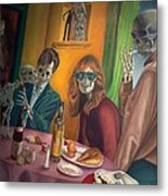 Social Xrays  Metal Print by Maureen J Haldeman