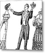 Society Hypnotist, 1900 Metal Print