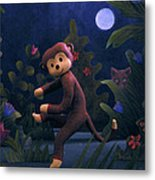 Sock Monkey In The Wild Metal Print