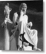 Socrates And Apollon Metal Print