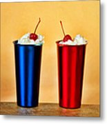 Soda Fountain Joy Metal Print
