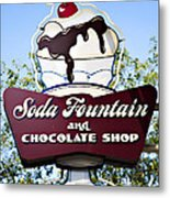 Soda Fountain Metal Print