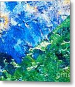 Sodium Thiosulphate Microcrystals Colorful Art Metal Print