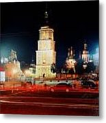 Sofiiska Square At Night Metal Print