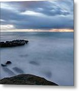 Soft And Blue Metal Print
