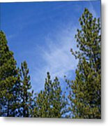 Soft And Gentle Sky Metal Print