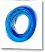 Soft Blue Enso - Abstract Art By Sharon Cummings Metal Print
