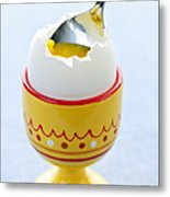 Soft Boiled Egg In Cup Metal Print by Elena Elisseeva