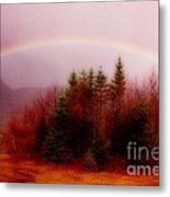 Soft Cape Breton Rainbow Metal Print
