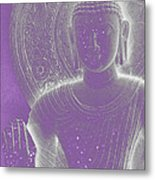Soft Glow Purple Buddha Metal Print by Sally Rockefeller