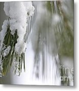 Soft Ice Metal Print