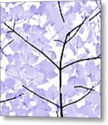 Soft Lavender Leaves Melody Metal Print