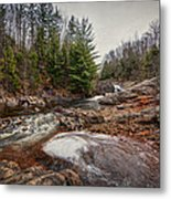 Soft Maple Water Fall Metal Print