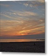 Soft Orange Sunset Metal Print
