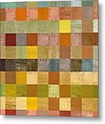 Soft Palette Rustic Wood Series Collage Lll Metal Print