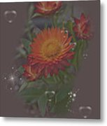 Soft Pastel Abstract Strawflowers Art Prints Metal Print
