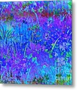 Soft Pastel Floral Abstract Metal Print
