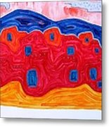 Soft Pueblo Original Painting Metal Print