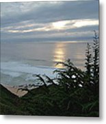 Soft Silvery Pacific Sunset Metal Print