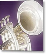 Soft Trumpet On Purple Metal Print