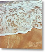 Soft Wave Of The Sea On The Sandy Beach Metal Print