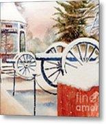 Softly Christmas Snow Metal Print by Kip DeVore