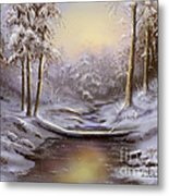 Softly Falling Metal Print
