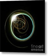 Solar Eclipse With Fractal Metal Print