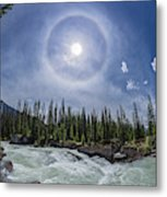 Solar Halo Over Natural Bridge, Yoho V1 Metal Print
