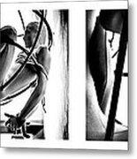 Solar Jail Triptych Metal Print
