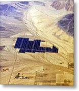 Solar Panels Aerial View Metal Print