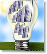 Solar Power Lightbulb Metal Print