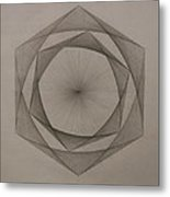 Solar Spiraling Metal Print