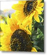 Solar Sunflowers Metal Print