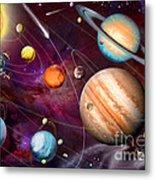 Solar System 2 Metal Print
