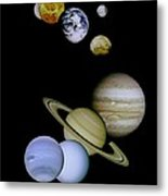 Solar System Montage Metal Print